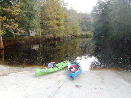paddling Arbuckle Creek, kayak, canoe