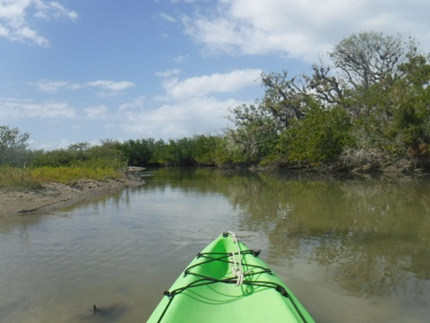 paddling Shipyard Island, Canaveral National Seashore