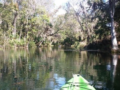 paddling Silver River, Fort King Waterway